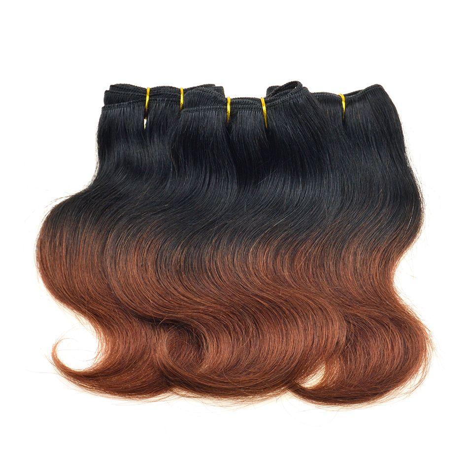 300g Brazilian Ombre Short Hair Extensions 8inch T1B33