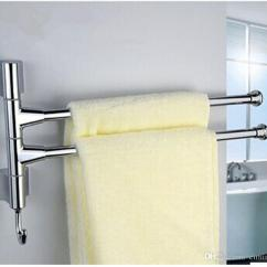 Kitchen Towel Racks Light Maple Cabinets Stainless Steel Bar Rotating Rack Bathroom Polished Holder Hardware Accessory