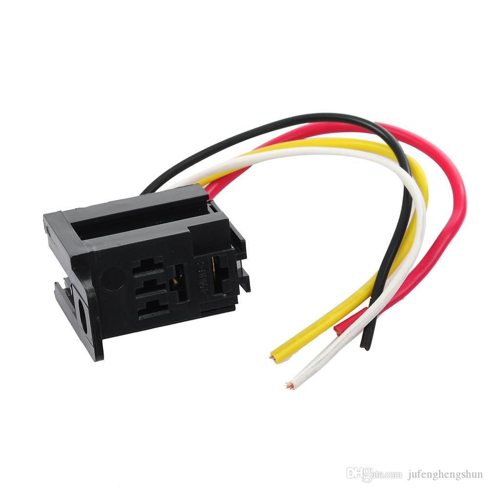 hight resolution of 5 car auto relay socket 12v 20a 30a 4 pin 4 wire harness kit for