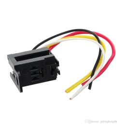 car auto relay 12v 30a spst relay 4 pin socket 4 prong 4 wire kit  [ 1001 x 1001 Pixel ]