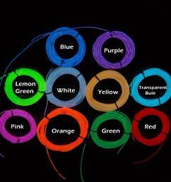 flexible neon light 3m el wire rope tube with controller 3m flexible neon [ 1500 x 1500 Pixel ]