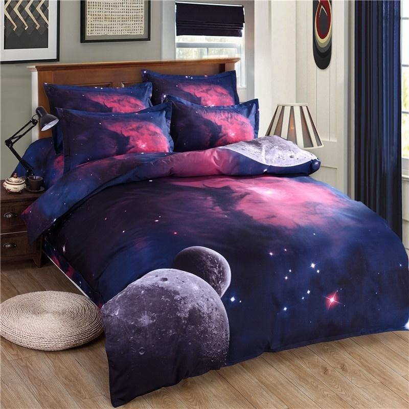 3d Galaxy ChildrenS Room Bedding Sets TwinQueen Size