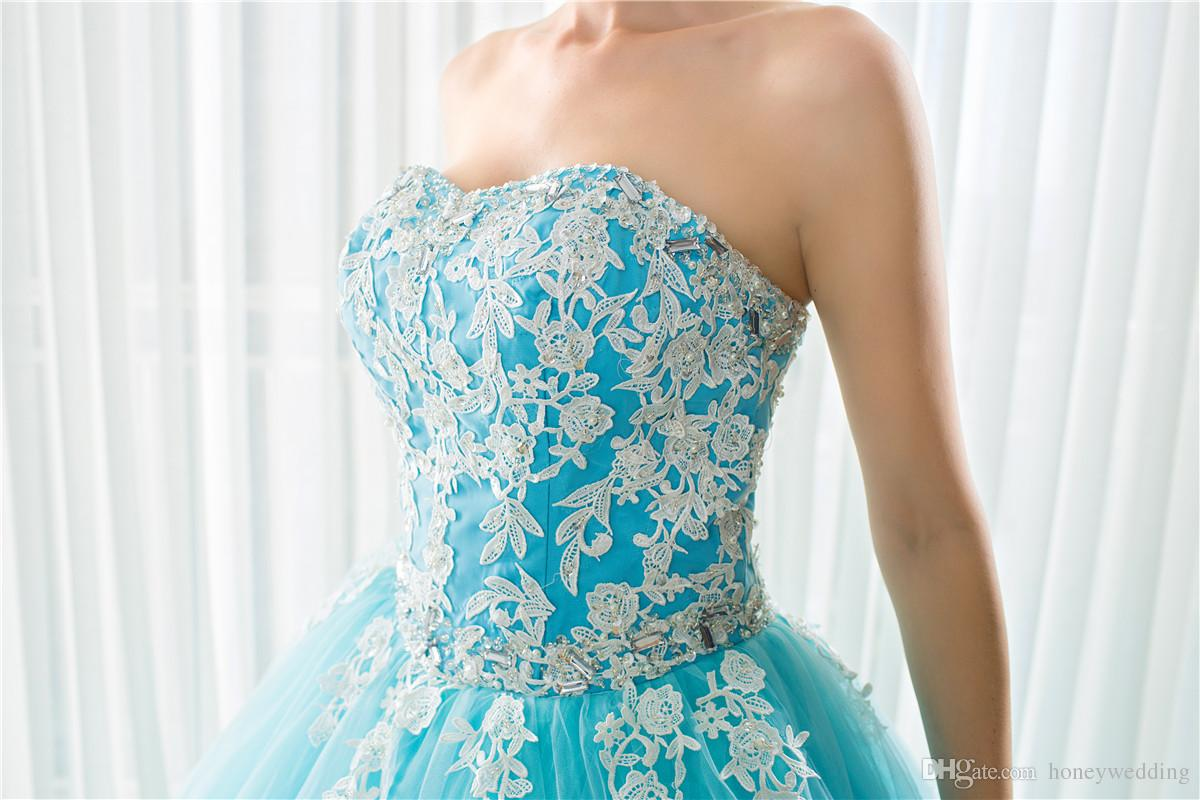Real Photo Cheap Debutant Masquerade Prom Dresses In Stock