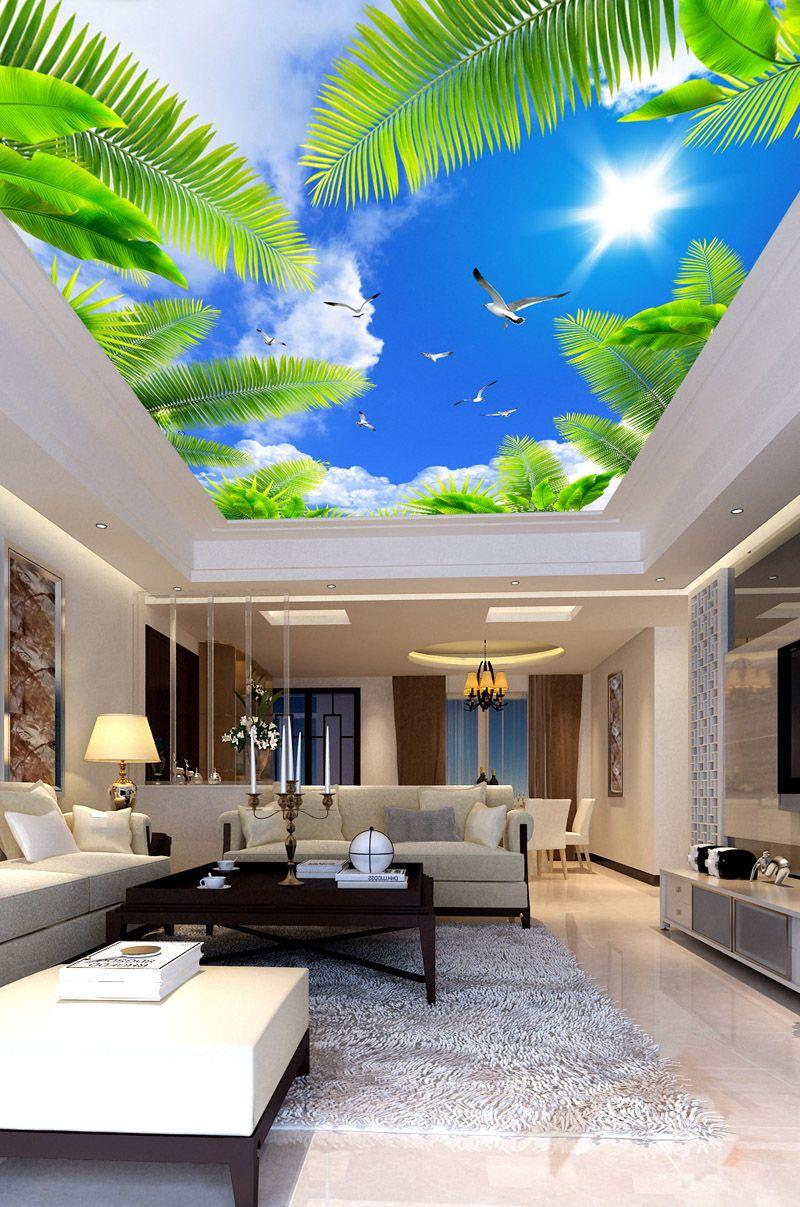 Blue Sky Wall Mural Custom 3d Wallpaper For Walls Natural