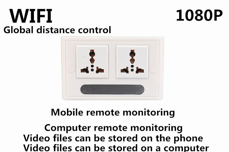 HD 1080P Wifi Spy Camera Socket H.264 Format P2P Hidden