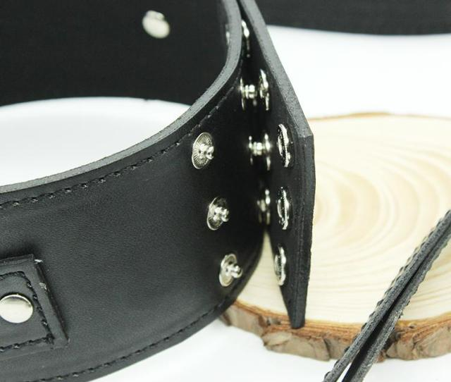 Classic Double Leather Slave Collars Slave Neck Ring Public Coll Sex Toys Sexy