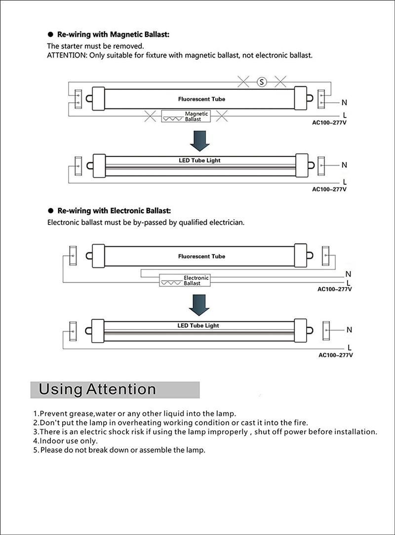 hight resolution of  t8 led light tube 8ft 45w fa8 single pin replacement philips 38177 4