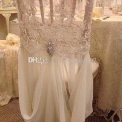 Wedding Chair Covers For Sale Australia Sling Outdoor Dining Set 2018 White Elastic Lace And Chiffon With Crystals Dresses ...