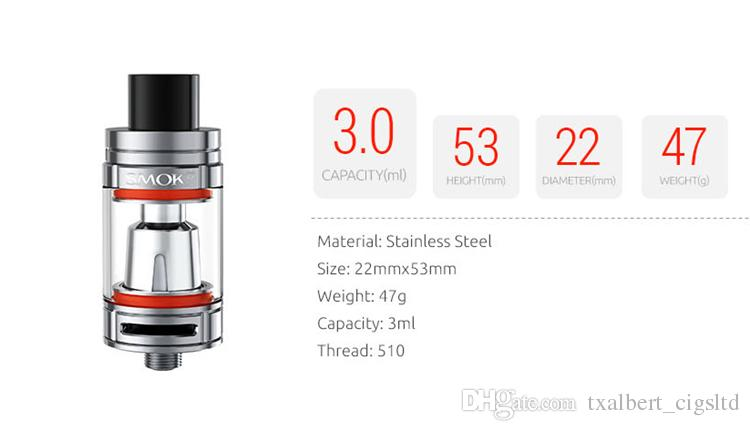 100% Authentic Smok TFV8 Baby Atomizer Vaporizer E Cigarette Kit with The Baby Beast 3ml Tank