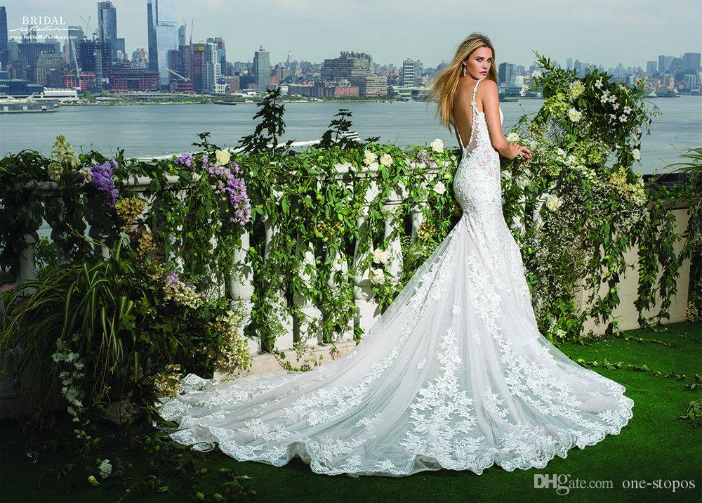2017 Lace Mermaid Wedding Dresses Bridal Gowns Sexy Beaded