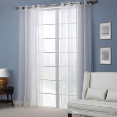 White Curtains For Living Room Yellow 2019 Bedroom Curtain Modern European American Style Sheer Pervious Vertical Window Shades