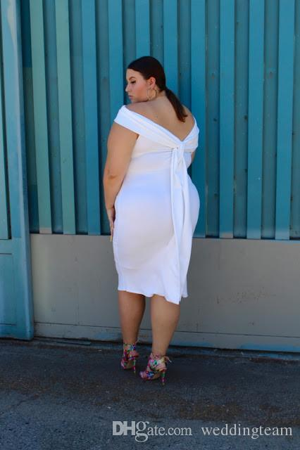 Charming White Plus Size Prom Dresses Off The Shoulder