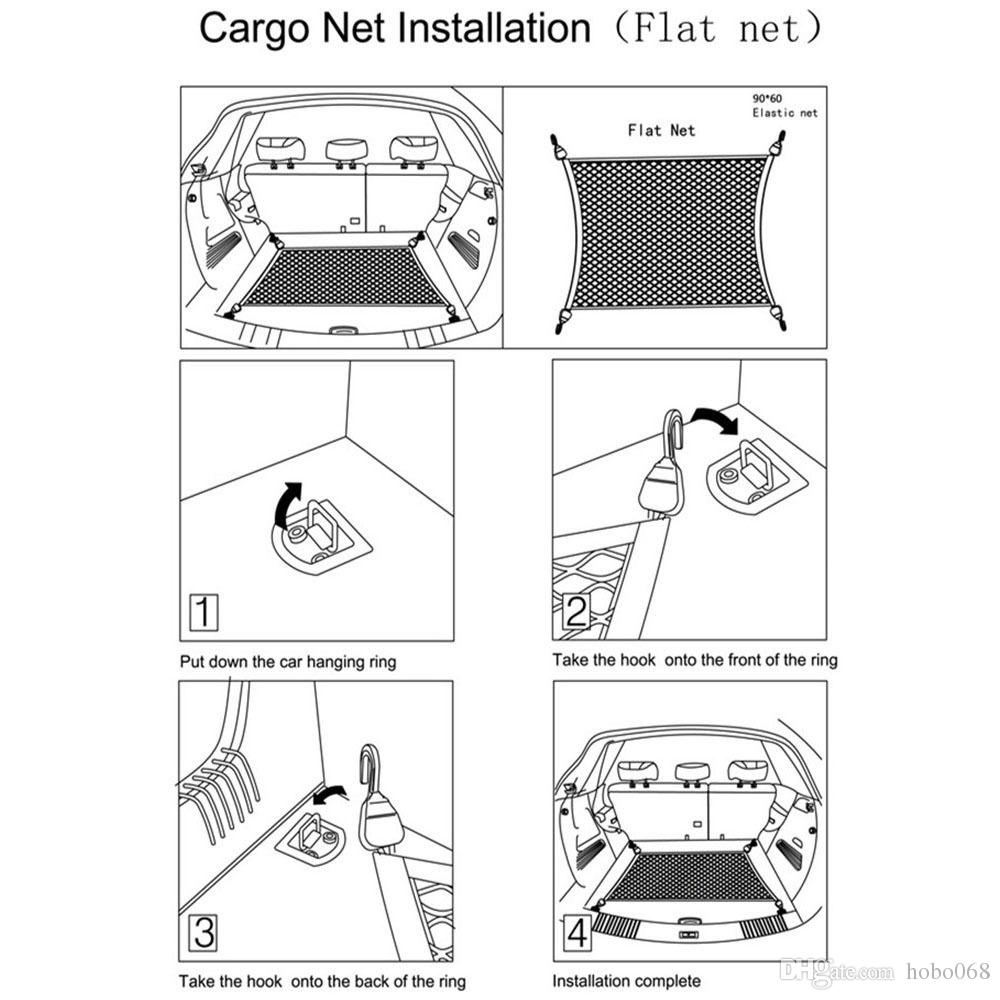 For Subaru Outback Rear Trunk Cargo Organizer Storage Net