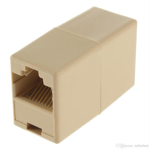 small resolution of  8p8c rj45 female to rj45 female for cat5 network cable connector adapter extender plug coupler joiner