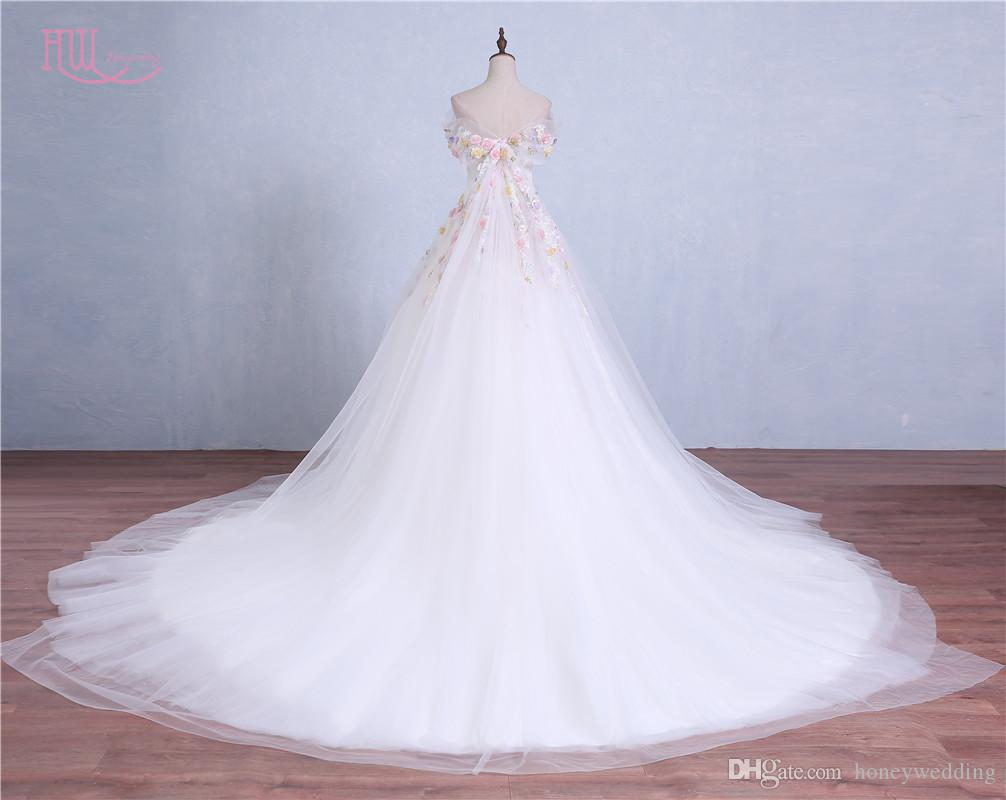 Discount Romantic Colorful Ball Gown Wedding Dresses Off