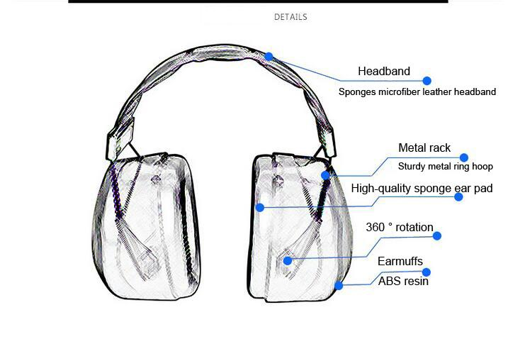 CHENGKAI Sleep Soundproof Earmuffs Ear Muff Headp Earmuffs