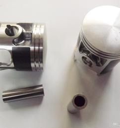 new for yamaha banshee 350 standard bore cylinder piston gasket kit 1987 2006 2gu  [ 1368 x 1000 Pixel ]