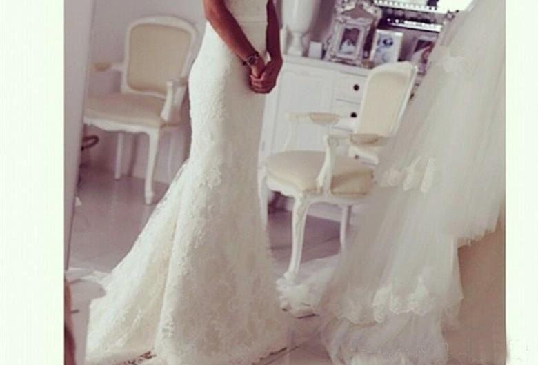 Off The Shoulder Mermaid Wedding Dresses 2017 Lace Wedding