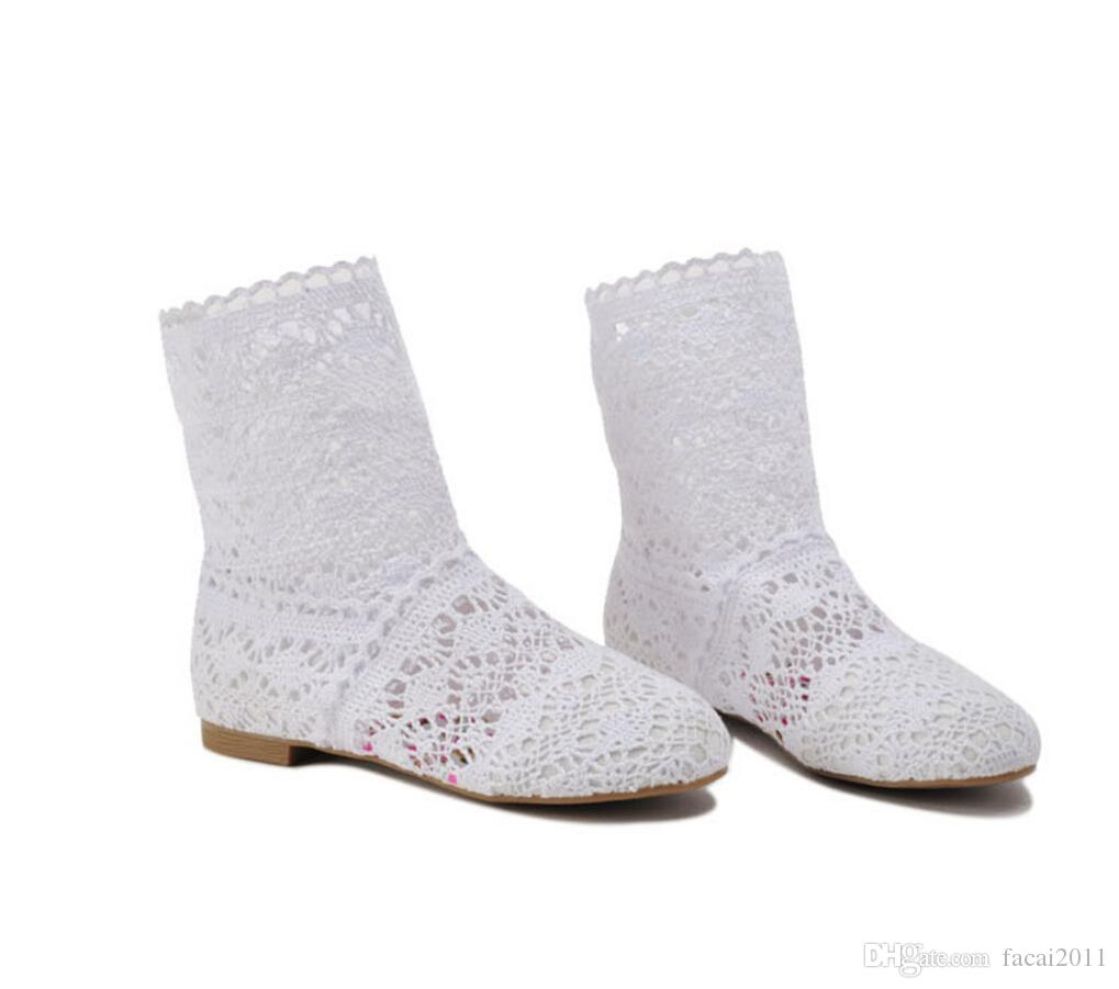 British White Ankle High Boots
