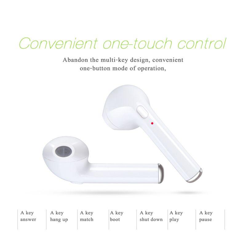 Wireless Bluetooth Earbuds HBQ I7 Twins Mini Bluetooth V4