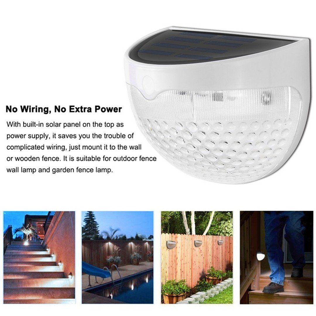 hight resolution of 6 led solar garden outdoor lights waterproof fence garden light wall lamp auto on off
