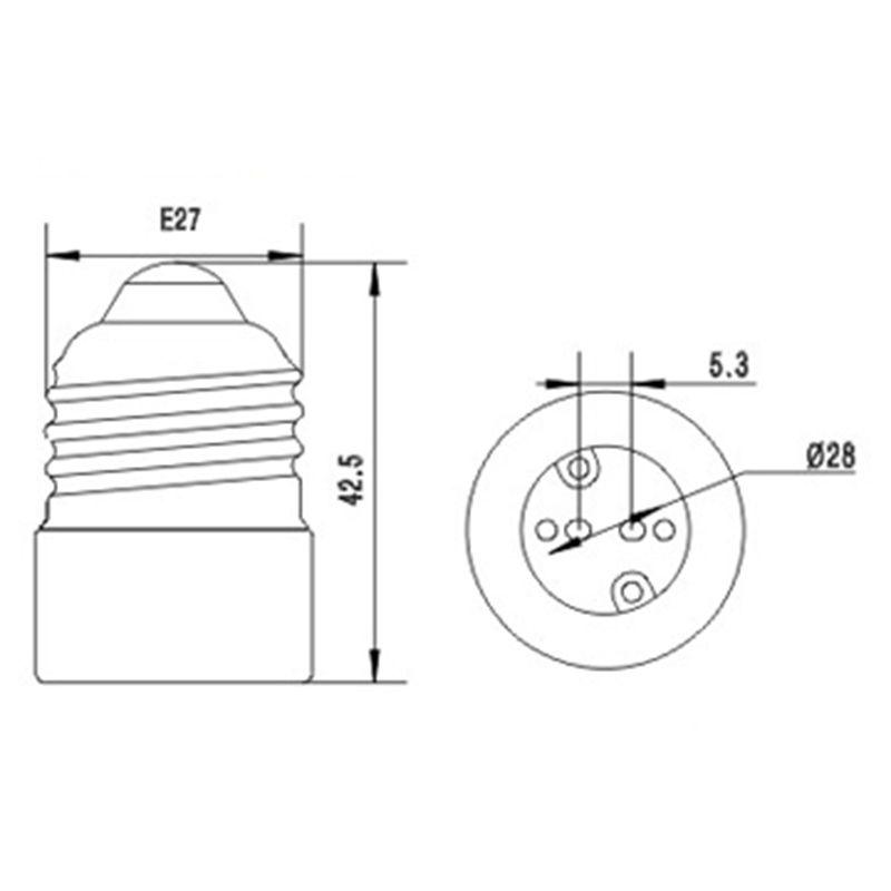 E27 To MR16 Lamp Holder Adapter Base Socket Converter for