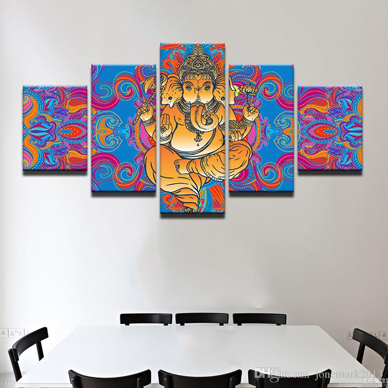 india god ganesha wall art canvas pictures for living room home
