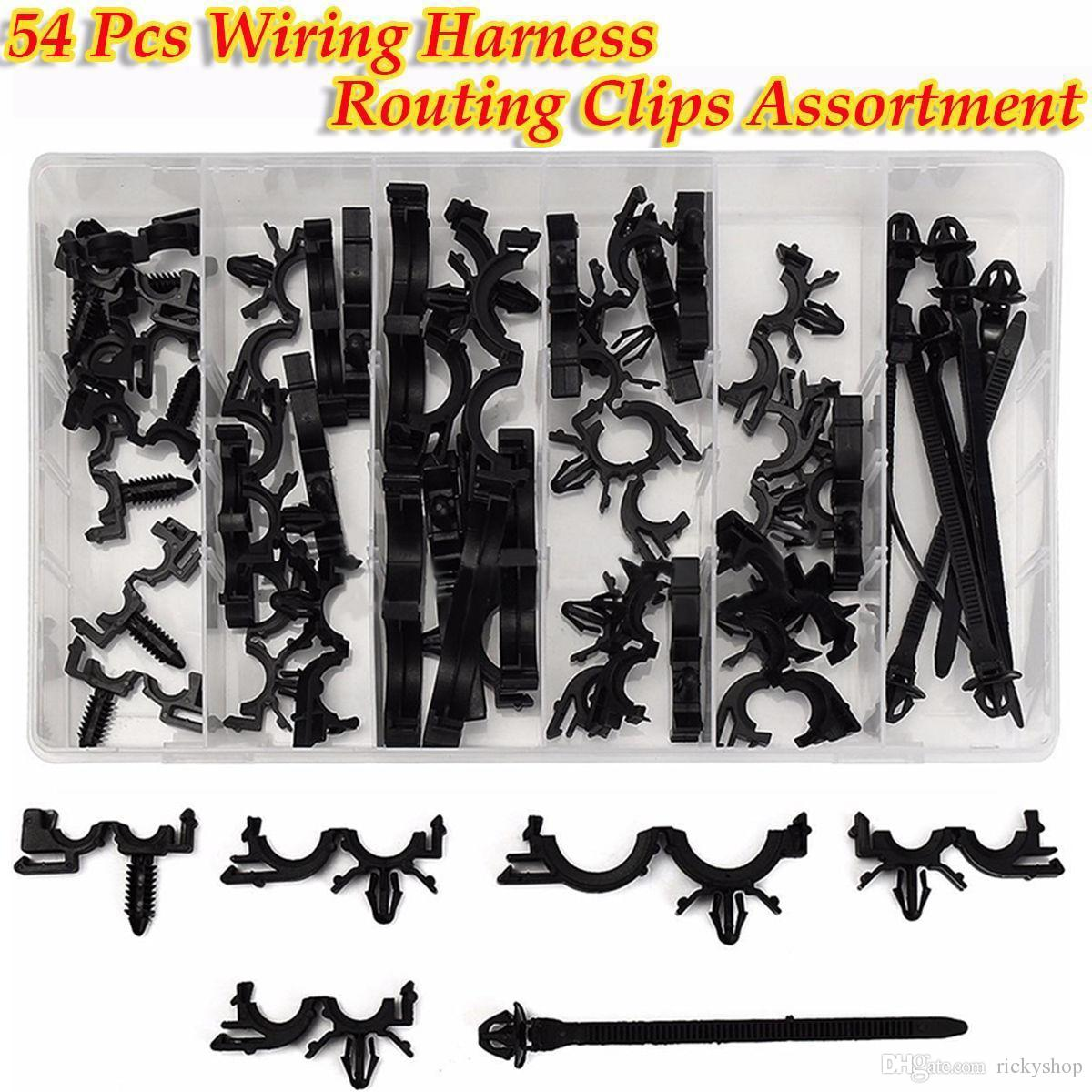 hight resolution of 54x car nylon assortments retainer mould harness wire loom routing wire clip kit
