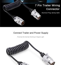 t23490 7 pin trailer wiring connector n type aluminum plug 150cm spring extension cable for  [ 1000 x 1553 Pixel ]