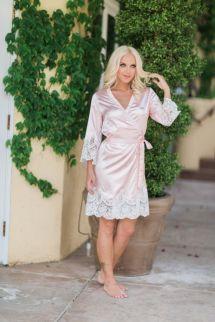 3 4 Long Sleeves Cheap Bridesmaid And Bride Robes Custom