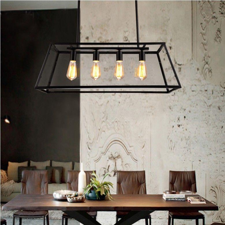 Loft Pendant Lamp Retro American Industrial Black Iron