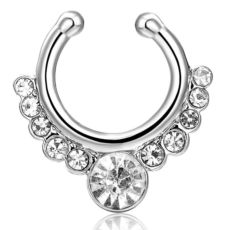 2020 Fashion Crystal Fake Nose Ring Piercing Body Jewelry