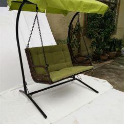 Outdoor Wicker Swing Chair Patio Dining Cushions 2019 Double Seat Rattan Rocking Hangingchair Garden Hanging