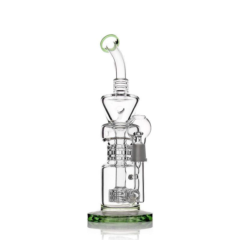 2019 Novelty Design Recycler Gass Bong Glass Water Pipe