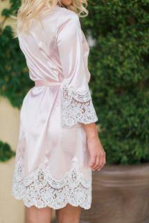 Knee Length Silk Robe