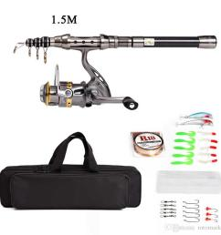 telescopic fishing rod and reel combo full kit spinning fishing reel gear organizer pole set with  [ 900 x 900 Pixel ]