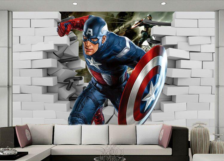 3D Captain America Wallpaper Avengers Photo Wallpaper Cool