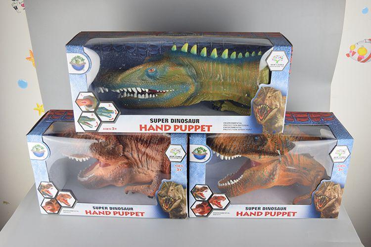 Big Size Dinosaur Hand Puppets Soft Plastic Dinosaur