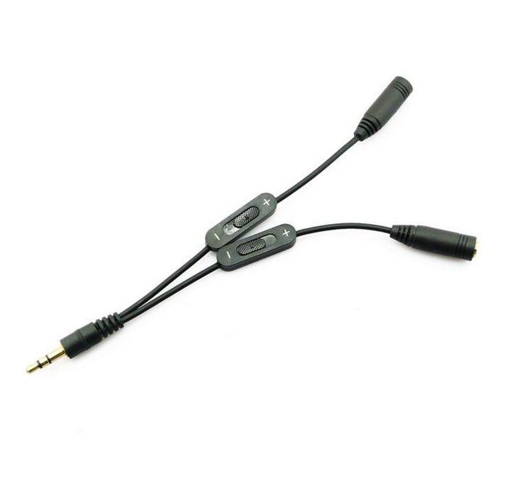 2020 Volume Control 3.5mm Plug Jack Headphone Audio Stereo