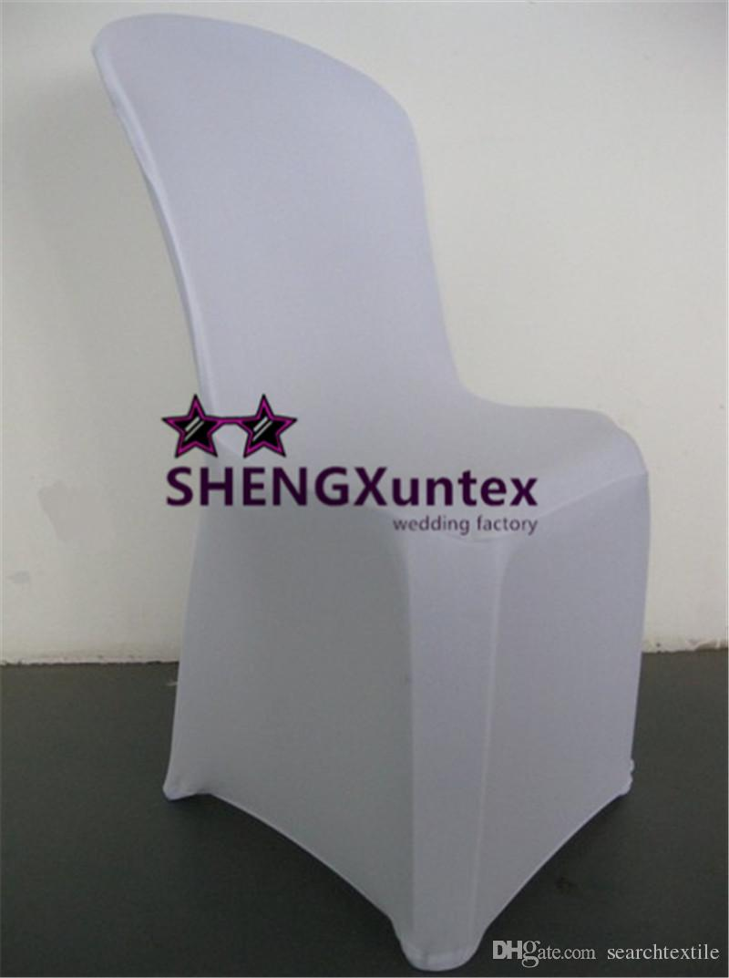 White Color Lycra Spandex Chair Cover Back For Plastic