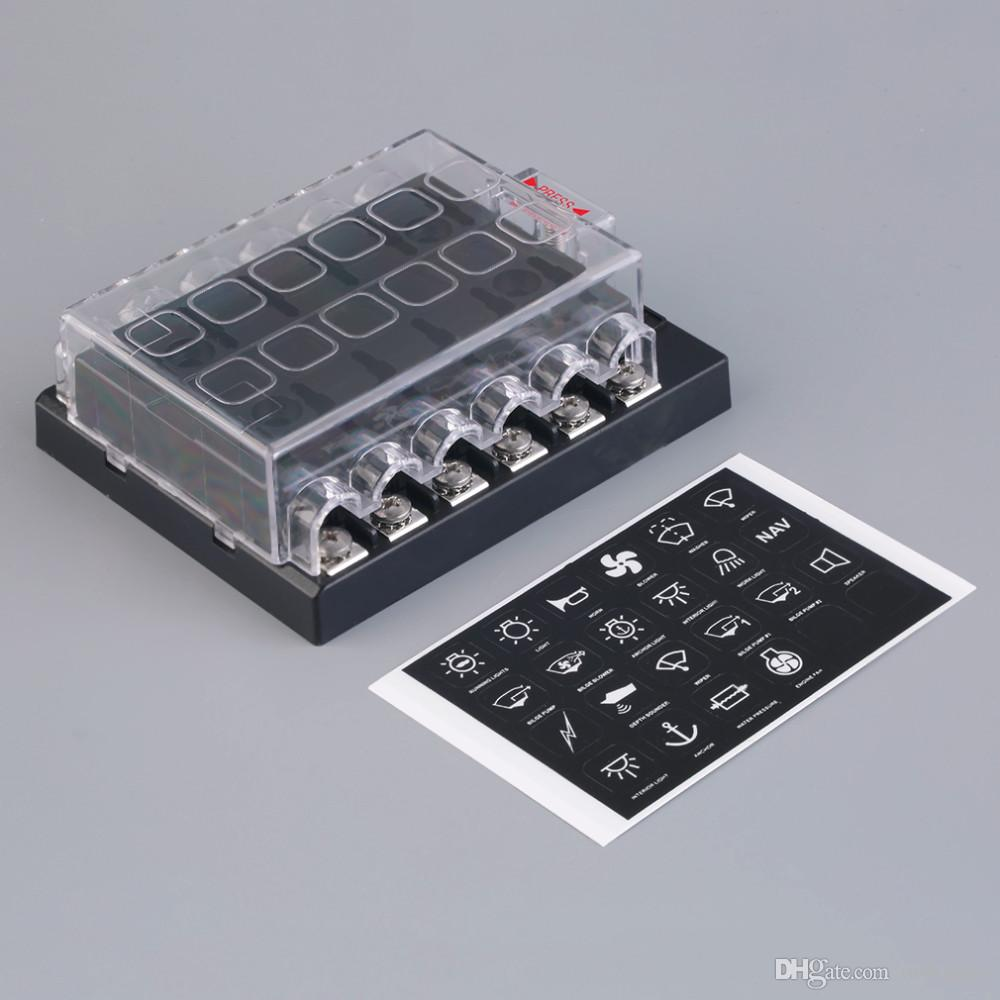 hight resolution of 2019 12 way circuit car atc ato blade fuse box block holder 32v terminals from ordermix 13 14 dhgate com