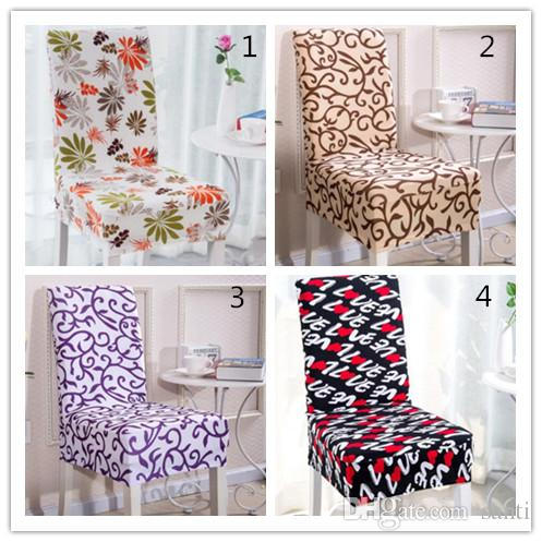 covers for chairs childrens wood table and new 28 styles floral printing chair spandex white elastic colorful