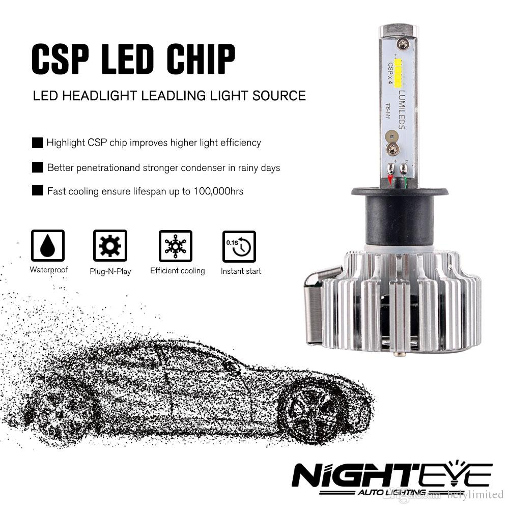 2020 A333 H1 CSP LED Headlight Bulbs 70W 9000LM Single