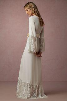 2018 Elegant Long Sleeves Cheap Bridesmaid And Bride Robes