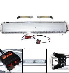 amber white 47 88 led light bar emergency beacon warn tow truck response strobe [ 1500 x 1500 Pixel ]