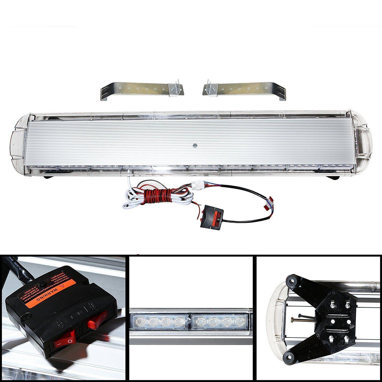 hight resolution of  amber white 47 88 led light bar emergency beacon warn tow truck response strobe