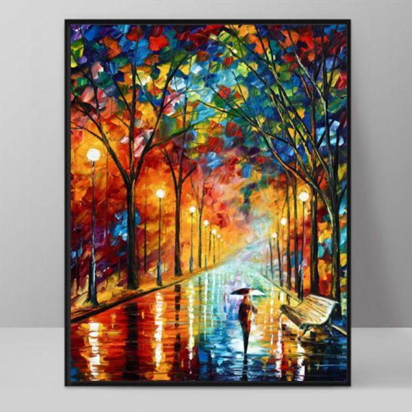 2019 Modern Art Deco Oil Painting Hd Print Canvas Wall