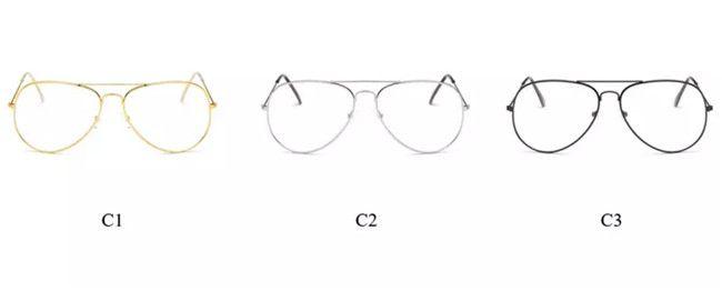 Classic Clear Lens Women Men Mirror Sunglasses Brand