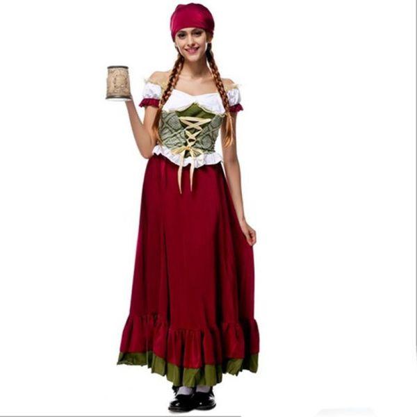 2017 Oktoberfest Beer Girl Costume Sexy Cosplay Halloween