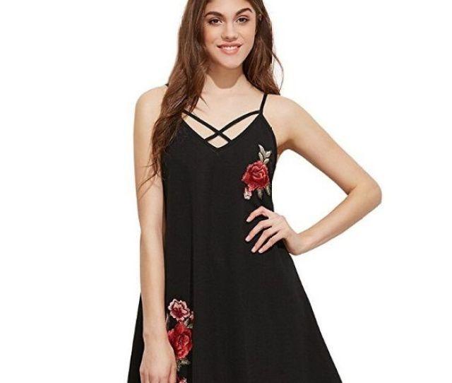 College Girl Sexy Black Condole Belt Skirt Dress Skirt Elegant Embroidered Dress Dinner Suit Dress